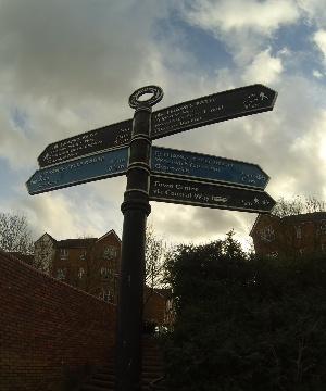 Dartford direction sign