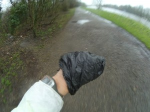 My plastic bag glove