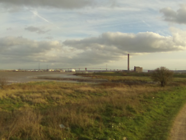 The Dartford Bridge in the distance