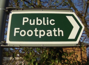 Public Footpath sign