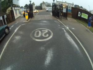 Bushy Park 50 mile turn sign