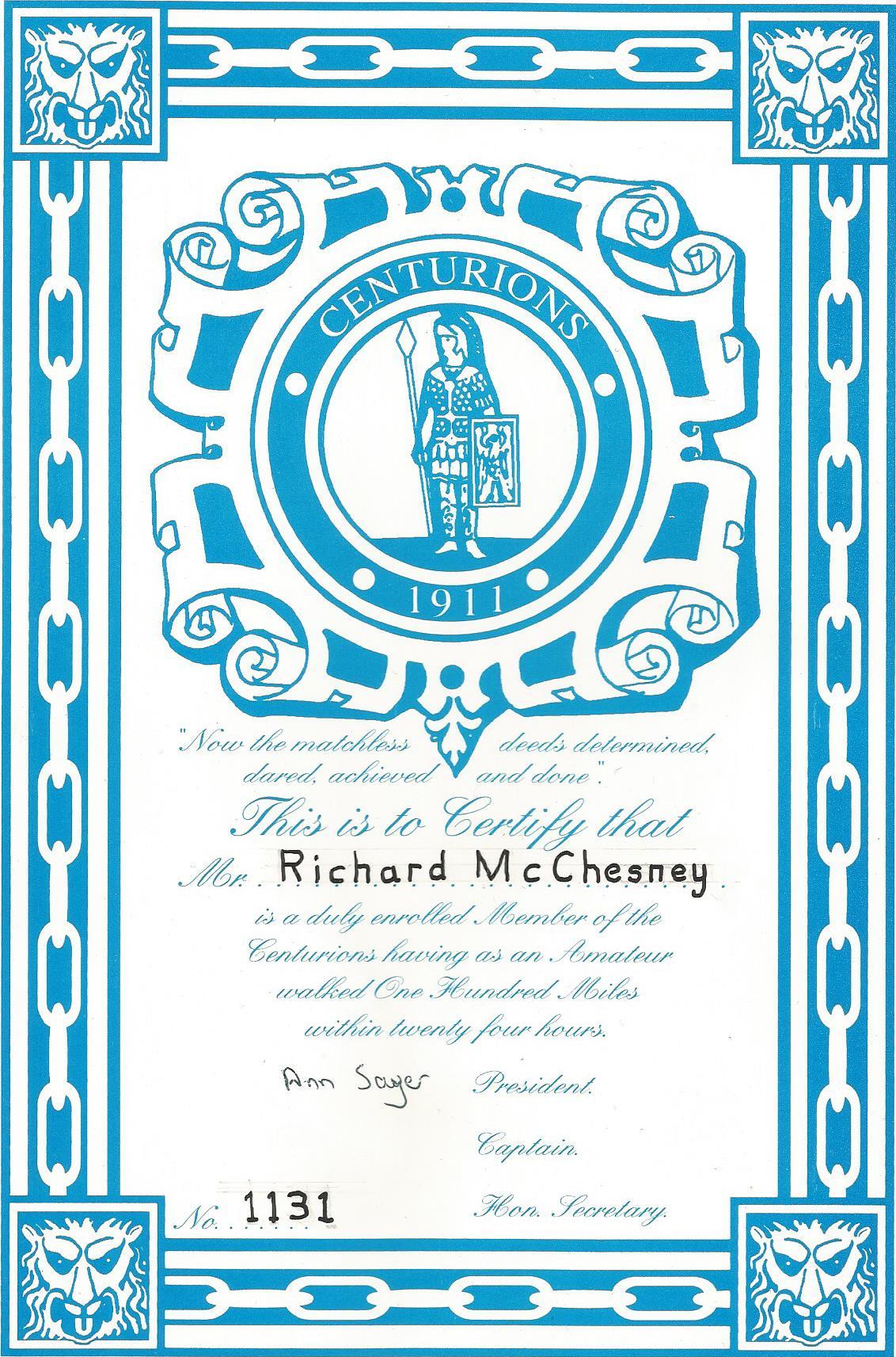 Centurions certificate0001