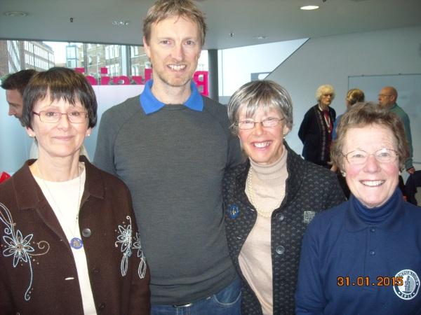 Four NZ Centurions: Sue Clements (NZ C10 - 2001), Richard McChesney (NZ C19 - 2013), Sandra Brown (NZC4 - 1999), and Jill Green (NZC8 - 2001).