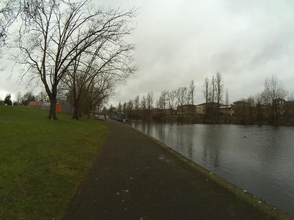 The lake in Barking Park