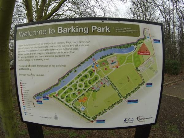 Barking Park - the start of my walk