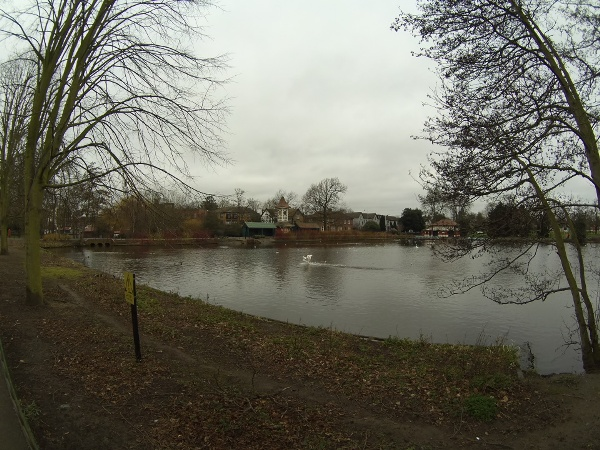 The lake at Valentines Park