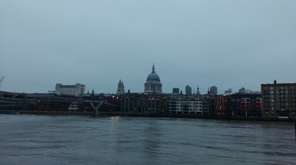 St Pauls Cathedral across the river