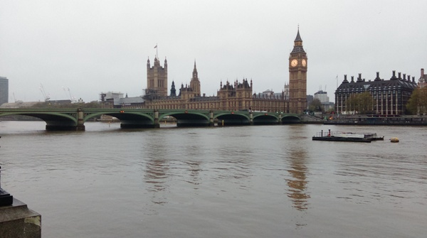And back towards the start of the marathon, but from the other side of the river is the Houses of Parliament