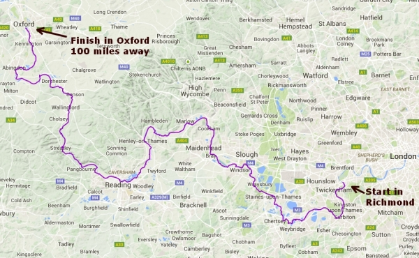 The Thames Path - 100 miles from Richmond to Oxford
