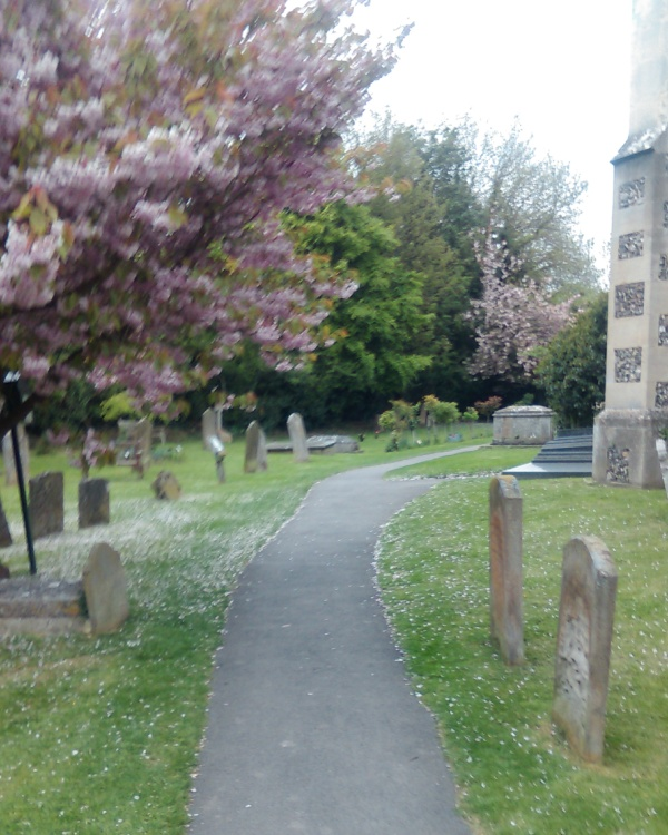 The race even went though the middle of a cemetery (Church yard).