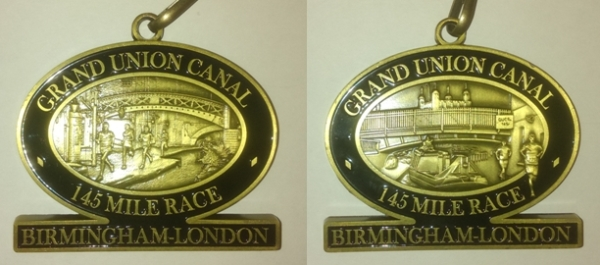 GUCR finishers medal