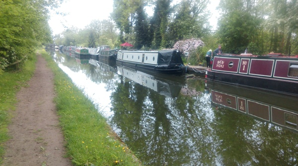 Grand Union Canal shortly after checkpoint 1