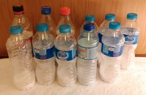 My bottles filled with UCan powder - just add water