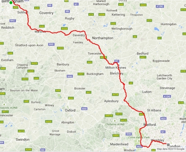 Birmingham to London via the Grand Union Canal - 145 miles