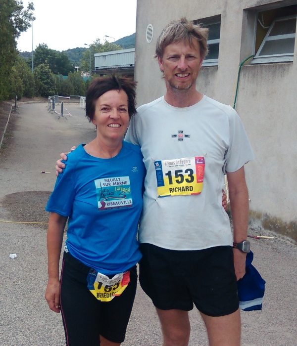 With Benedicte after finishing the race