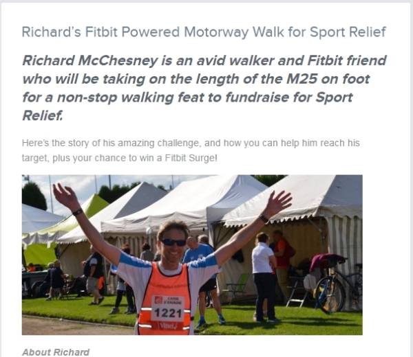 fitbit blog article before M25 walk