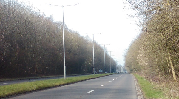 A Duel Carriageway without a footpath!