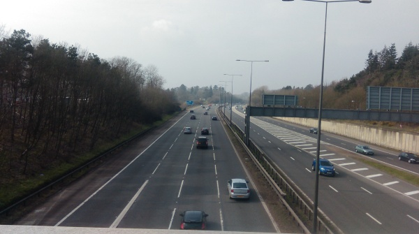 Crossing over the M40