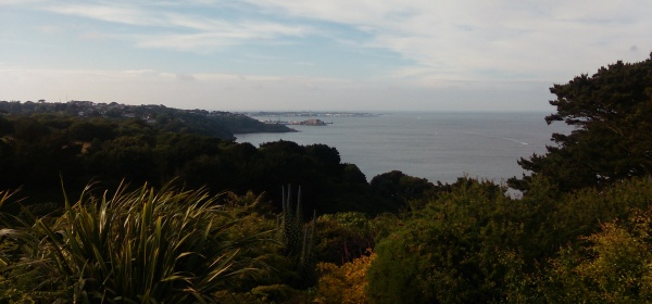 The cliffs above St Martin