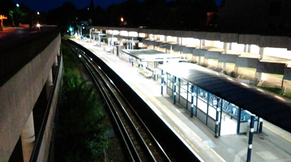 The platforms at Gunnersbury Station