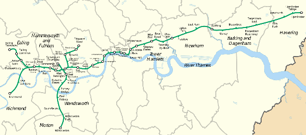 What the District Line map really looks like