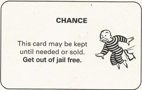 Monopoly get out of free card template 28 images for Get out of jail free card template