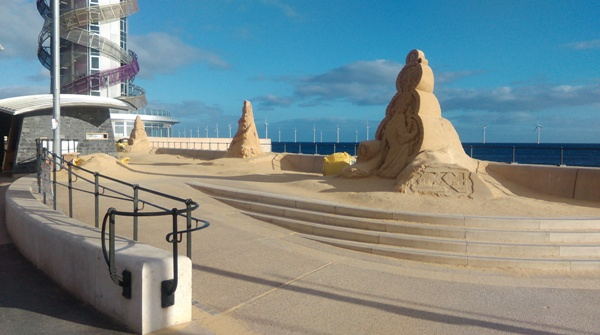 Sand sculptures at Redcar
