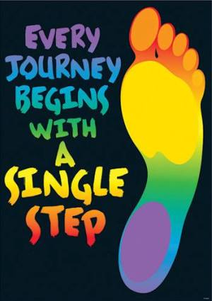 Every journey begins with a first step