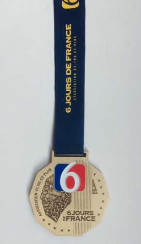 6 jours de France finishers medal