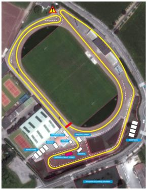 Privas 6 day race circuit