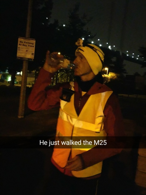 Finished walking the M25