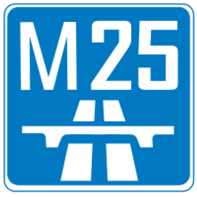 M25 Motorway Sign