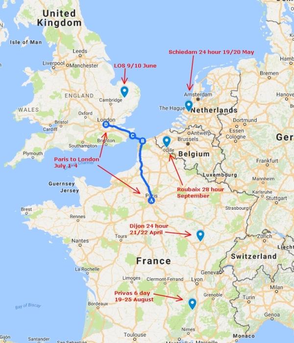 2018 race plan map