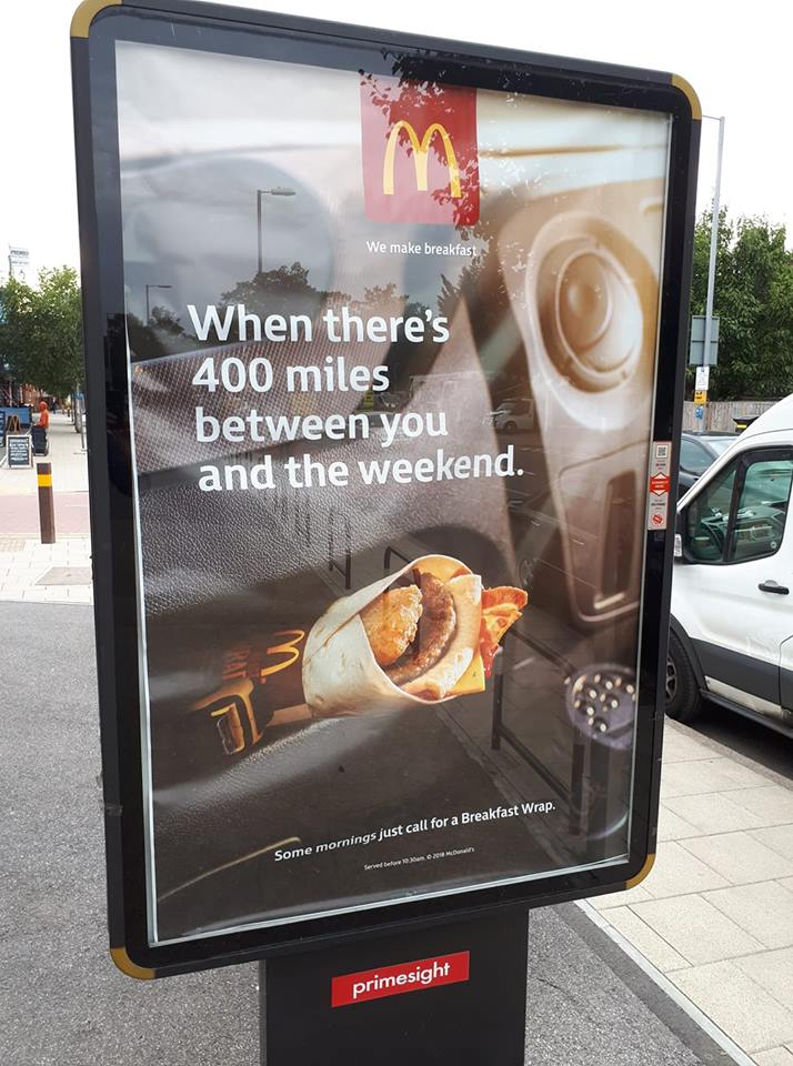 McDonalds advert