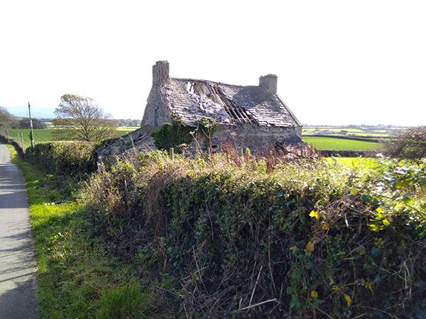 A derelict farm house