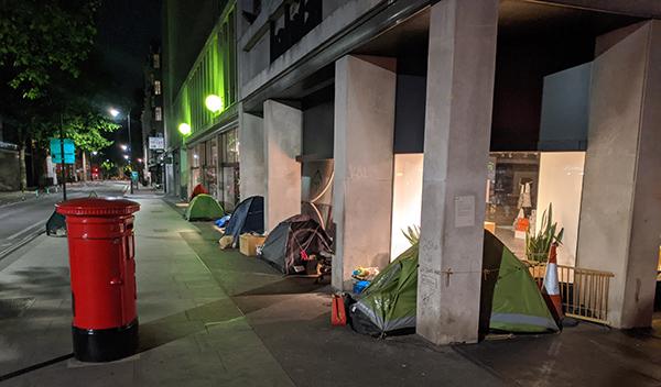 Homeless in Notting Hill