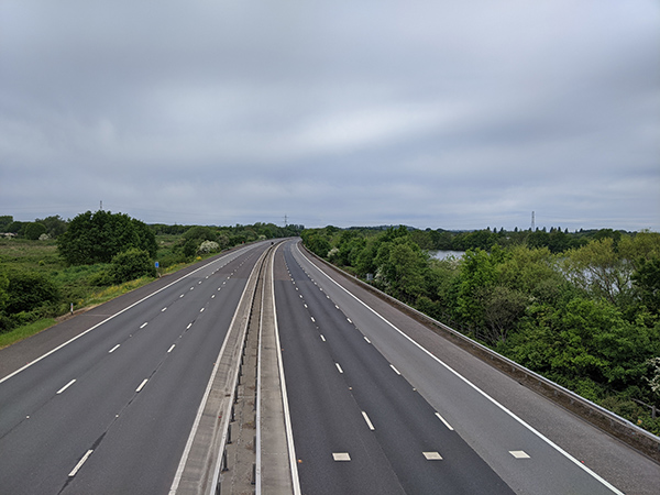 M3 motoway during lockdown 3rd May 2020