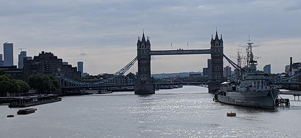 Tower Bridge and the HMS Belfast