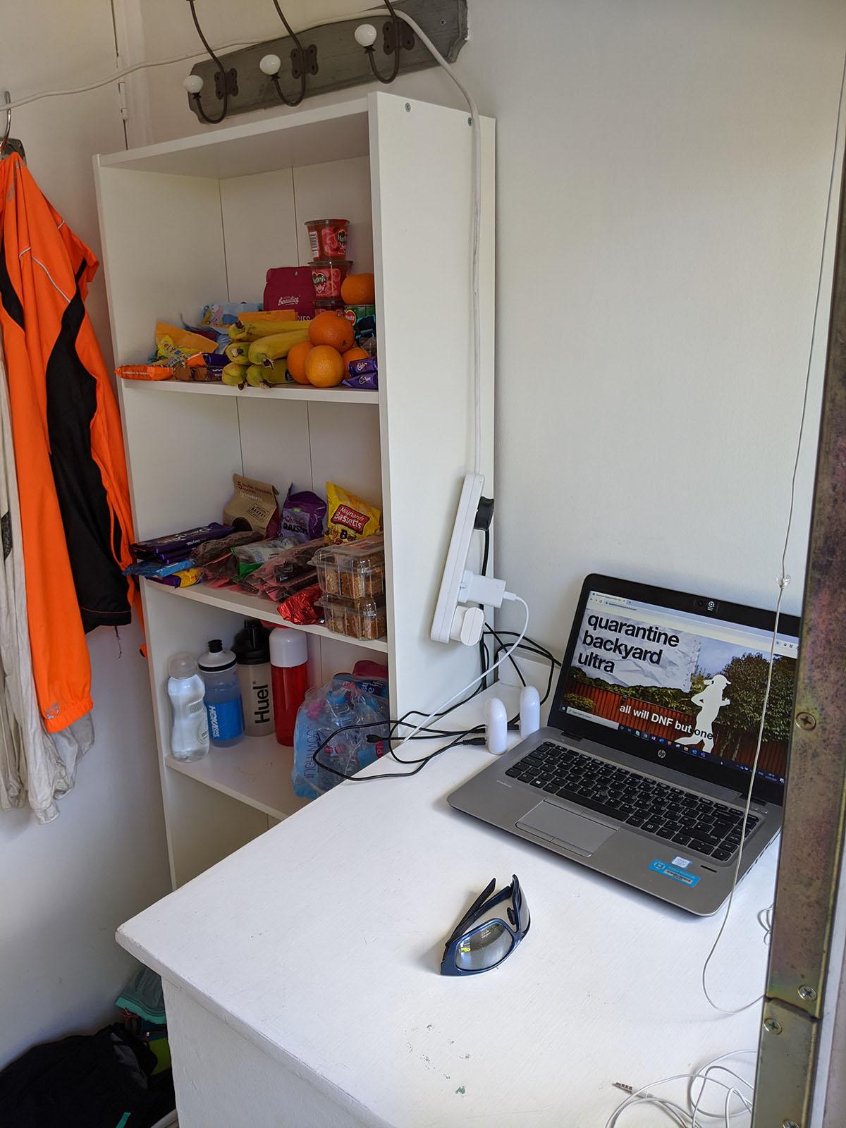 Quarantine Backyard Ultra - my start-finish area