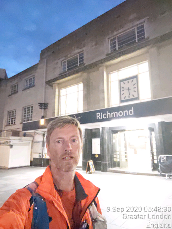 Finish of my London tube station walk