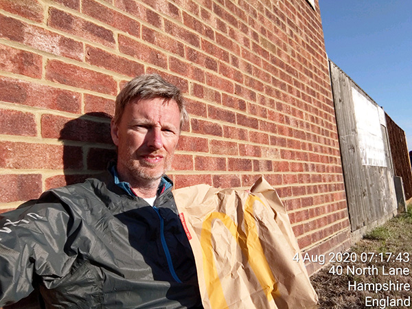 Surrey circumnavigation McDonalds Aldershot