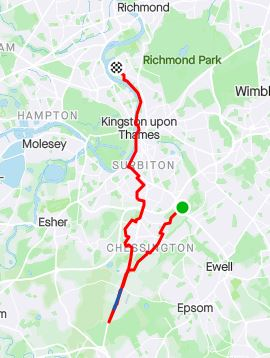 Surrey circumnavigation leg 3b map