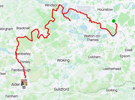 Surrey circumnavigation leg 4 map