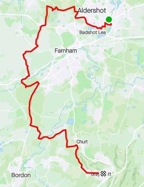 Surrey circumnavigation leg 5 map