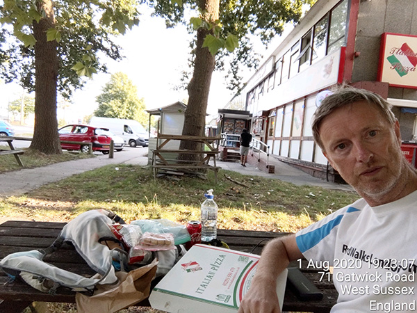 Surrey circumnavigation - pizza for tea