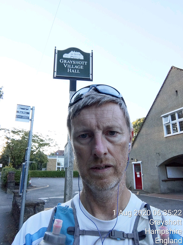 Surrey circumnavigation start selfie